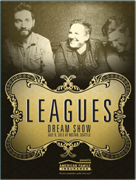 Leagues in Seattle Concert Poster